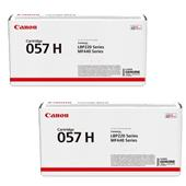 Canon 057H/3010C002 Black Original High Capacity Laser Toner Cartridge Twin Pack