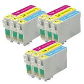 Compatible Multipack Epson T1002/03/04 3 Full Sets Inkjet Printer Cartridges