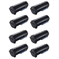 999inks Compatible Eight Pack Dell 593-11167 Black Laser Toner Cartridges