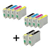 999inks Compatible Multipack Epson T1291/4 2 Full Sets + 2 FREE Black Inkjet Printer Cartridges