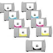999inks Compatible Multipack HP 80 2 Full Sets + 1 Extra Black High Capacity Inkjet Printer Cartridges