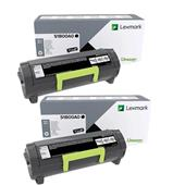 Lexmark 51B00A0 Black Original Standard Capacity Laser Toner Cartridge Twin Pack