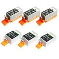 999inks Compatible Multipack Canon BCI-15K and BCI-16C 3 Full Sets Inkjet Printer Cartridges