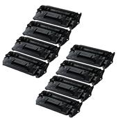 999inks Compatible Eight Pack Canon 052H Black High Capacity Laser Toner Cartridges