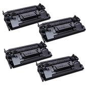 999inks Compatible Quad Pack HP 87X Black High Capacity Laser Toner Cartridges