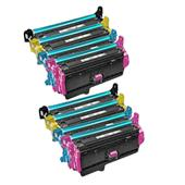 999inks Compatible Multipack HP 201X 2 Full Sets Laser Toner Cartridges