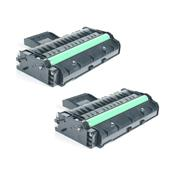Compatible Twin Pack Ricoh 407254 Black High Capacity Laser Toner Cartridges