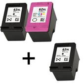 999inks Compatible Multipack HP 62XL 1 Full Set + 1 Extra Black Inkjet Printer Cartridges