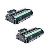 Compatible Twin Pack Ricoh 407246 Black High Capacity Laser Toner Cartridges