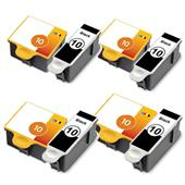 999inks Compatible Multipack Kodak No.10 4 Full Sets Inkjet Printer Cartridges