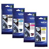 Brother LC3239XLBK/Y Full Set Original High Capacity Inkjet Printer Cartridges