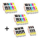 Compatible Multipack Epson T3351 3 Full Sets + 3 FREE Black Inkjet Printer Cartridges