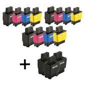 Compatible Multipack Brother LC900 3 Full Sets + 3 FREE Black Inkjet Printer Cartridges