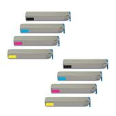 Compatible Multipack Xerox 016-1977-80 2 Full Sets High Capacity Laser Toner Cartridges