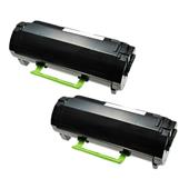 999inks Compatible Twin Pack Lexmark 502U Black Ultra High Capacity Laser Toner Cartridges
