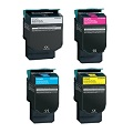 999inks Compatible MultiPack Lexmark C544X2K/C/M/YG 1 Full Set Laser Toner Cartridges
