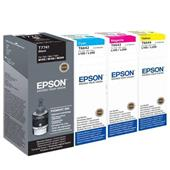 Epson T7741/T6642-44 Full Set Original Inkjet Printer Cartridges