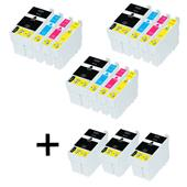 999inks Compatible Multipack Epson T2711 3 Full Sets + 3 FREE Black Inkjet Printer Cartridges