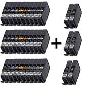 999inks Compatible Multipack Canon PGI-72 3 Full Sets + 3 FREE Black Inkjet Printer Cartridges