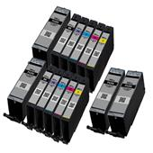 999inks Compatible Multipack Canon PGI-580PGBKXXL and CLI-581BK/C/M/Y/PB (XXL) 2 Full Sets + 2 FREE Black Inkjet Printer Cartridges