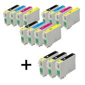 999inks Compatible Multipack Epson T03U1-U4 3 Full Sets + 3 FREE Black Inkjet Printer Cartridges