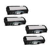 Compatible Quad Pack Dell 593-10501 Black Laser Toner Cartridges