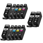 999inks Compatible Multipack Canon PGI-525/CLI-526 2 Full Sets + 2 FREE Black Inkjet Printer Cartridges
