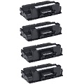 999inks Compatible Quad Pack Dell 593-BBBI Black Laser Toner Cartridges