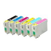 Compatible Multipack Epson T0791 1 Full Set Inkjet Printer Cartridges