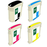 999inks Compatible Multipack HP 10/11 1 Full Set Inkjet Printer Cartridges