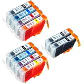 Compatible Multipack Canon BCI-6BK/C/M/Y 2 Full Sets + 2 FREE Black Inkjet Printer Cartridges
