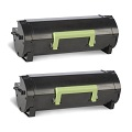999inks Compatible Twin Pack Lexmark 502H Black Laser Toner Cartridges
