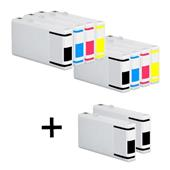 999inks Compatible Multipack Epson T7021/4 2 Full Sets + 2 FREE Black Inkjet Printer Cartridges