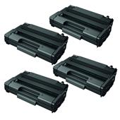 Compatible Quad Pack Ricoh 406990 Black High Capacity Laser Toner Cartridges