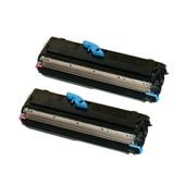 999inks Compatible Twin Pack OKI 09004168 Black Standard Capacity Laser Toner Cartridges