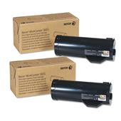 Xerox 106R02740 Black Original Extra High Capacity laser Toner Cartridge Twin Pack