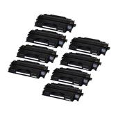 999inks Compatible Eight Pack HP 80X Black Laser Toner Cartridges