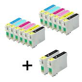 999inks Compatible Multipack Epson T0481 2 Full Sets + 2 FREE Black Inkjet Printer Cartridges