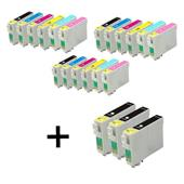 Compatible Multipack Epson T0791/796 3 Full Sets + 3 FREE Black Inkjet Printer Cartridges