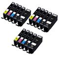 999inks Compatible Multipack Canon PGI-550PGBKXL and CLI-551BK/C/M/YXL 3 Full Sets Inkjet Printer Cartridges