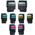 999inks Compatible MultiPack Lexmark C544X2K/C/M/YG 2 Full Sets Laser Toner Cartridges