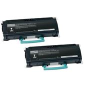 Compatible Twin Pack Lexmark X463X11G Black Extra High Capacity Laser Toner Cartridges
