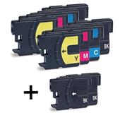 Compatible Multipack Brother LC985 2 Full Sets + 2 FREE Black Inkjet Printer Cartridges