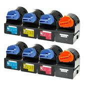 999inks Compatible Multipack Canon C-EXV21BK/C/M/Y 2 Full Sets Laser Toner Cartridges