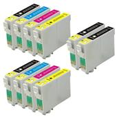 999inks Compatible Multipack Epson T03A1-A4 2 Full Sets + 2 FREE Black Inkjet Printer Cartridges
