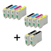 999inks Compatible Multipack Epson T03U1-U4 2 Full Sets + 2 FREE Black Inkjet Printer Cartridges