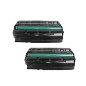 Compatible Twin Pack Ricoh 407249 Black Standard Capacity Laser Toner Cartridges