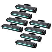 999inks Compatible Eight Pack Samsung MLT-D1042S Black Laser Toner Cartridges