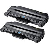 999inks Compatible Twin Pack Samsung MLT-D1052L Black High Capacity Laser Toner Cartridges