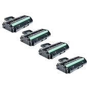 Compatible Quad Pack Ricoh 407246 Black High Capacity Laser Toner Cartridges